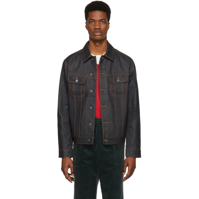 Photo: A.P.C. Indigo Waxed Denim Rick Jacket