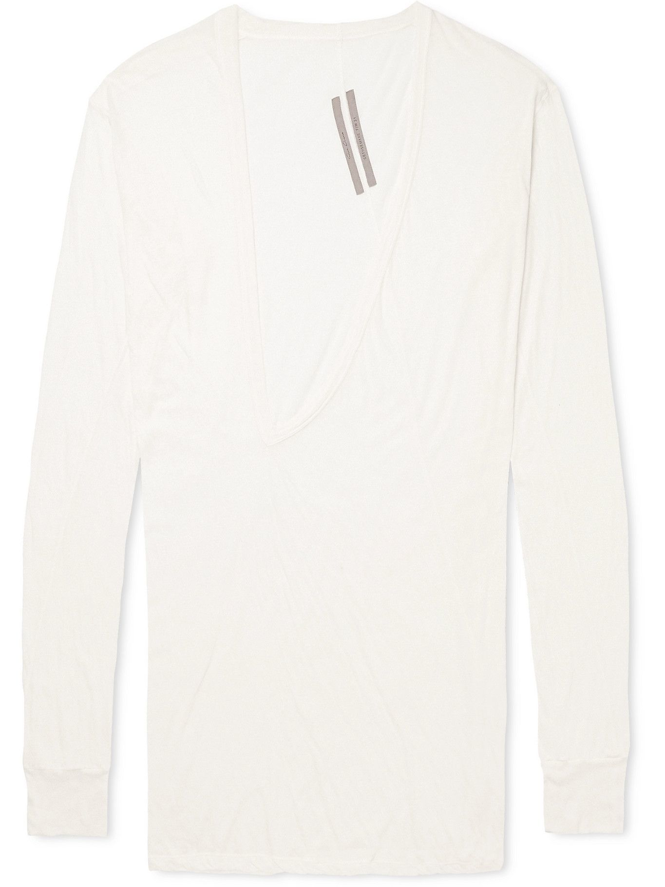 Photo: Rick Owens - Dylan Cotton-Jersey T-Shirt - White