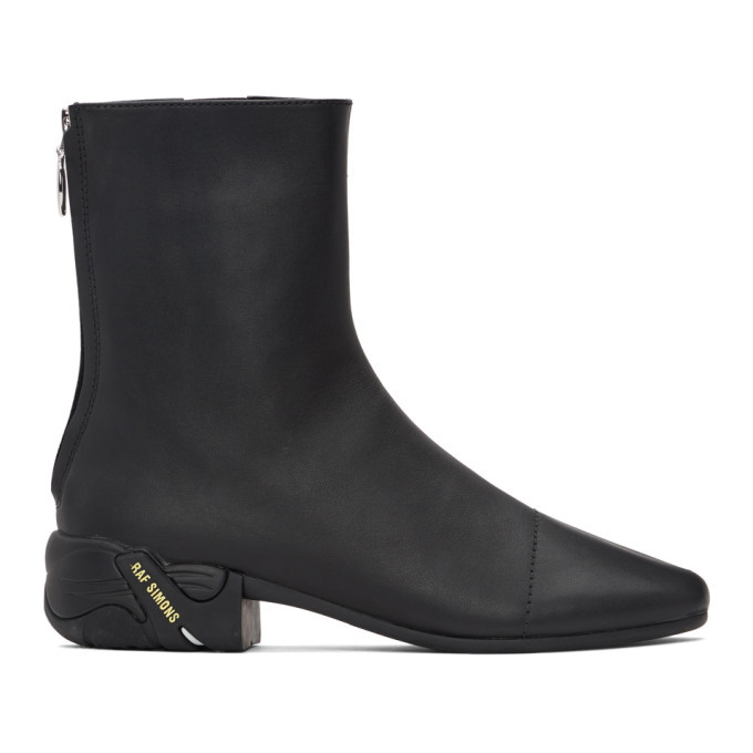 Photo: Raf Simons Black Solaris-2 Zip-Up Boots