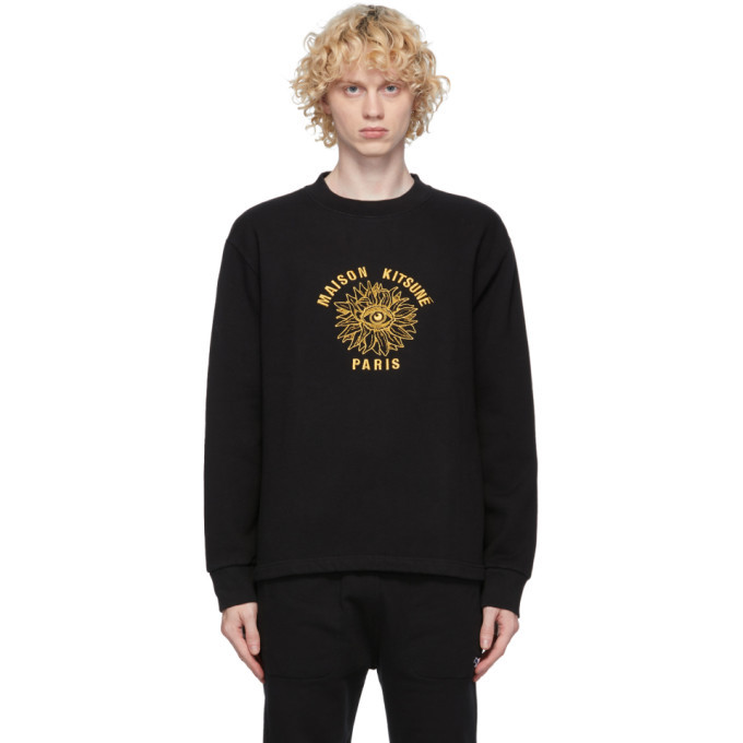 Photo: Maison Kitsune Black Big Eye Flower Sweatshirt