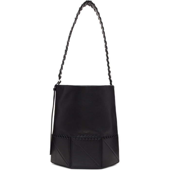 Photo: Wooyoungmi Black Leather Messenger Bag