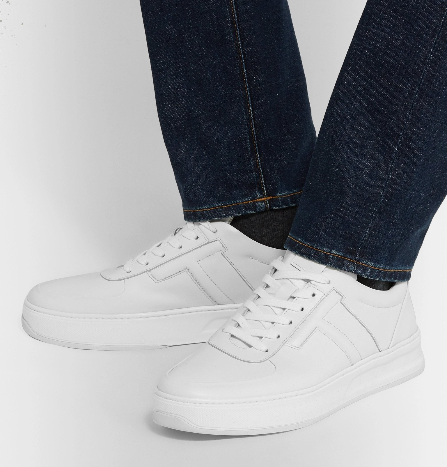 Tod's - Cassetta Leather Sneakers - White