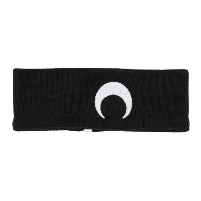 Photo: Marine Serre Black Knit Moon Choker