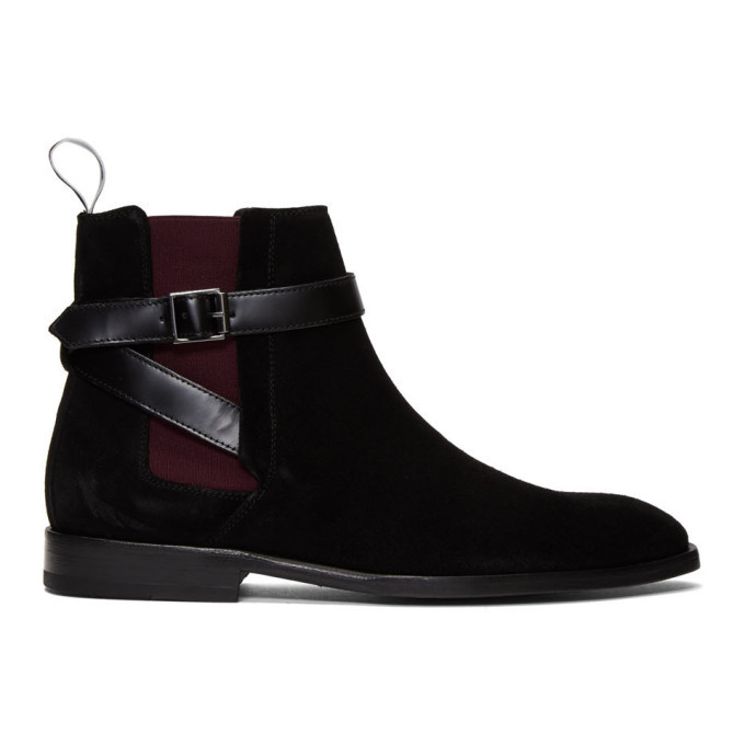 Photo: PS by Paul Smith Black Suede Harrow Chelsea Boots