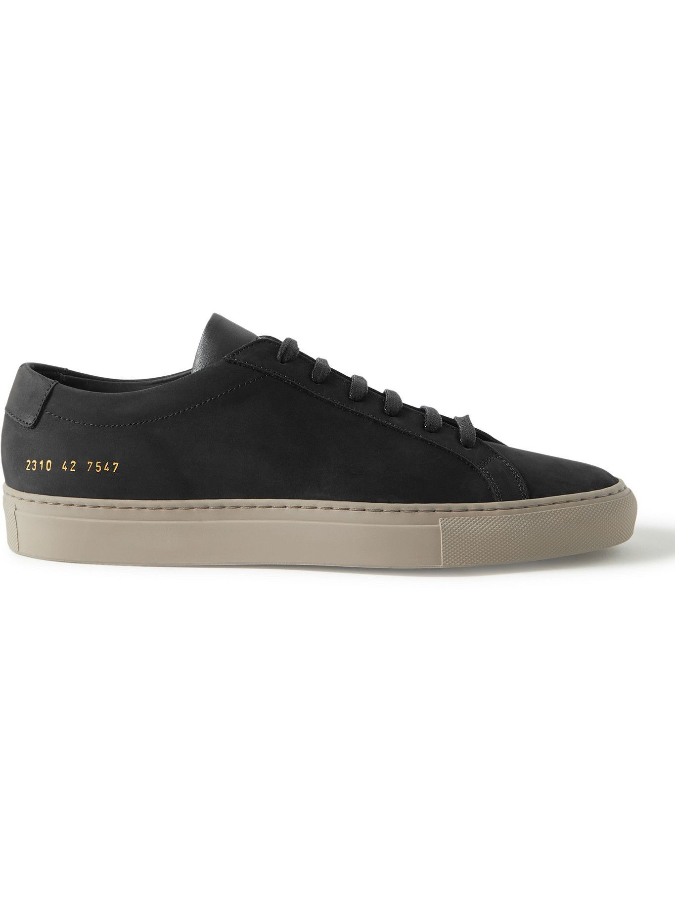 Common Projects - Original Achilles Nubuck and Leather Sneakers - Black