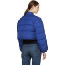 3.1 Phillip Lim Blue Cropped Puffer Ski Coat
