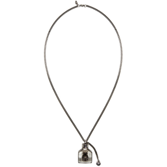 Photo: Alexander McQueen Silver Beetle Charm Necklace