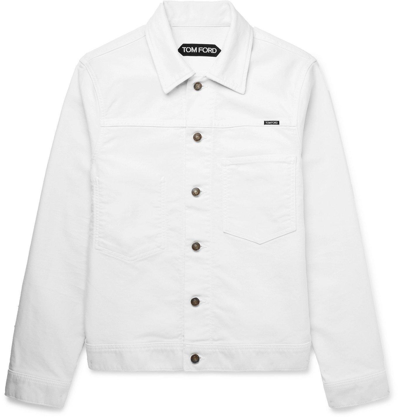 Photo: TOM FORD - Slim-Fit Brushed-Denim Jacket - Neutrals