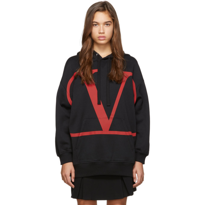 Photo: Valentino Black and Red VLTN Hoodie