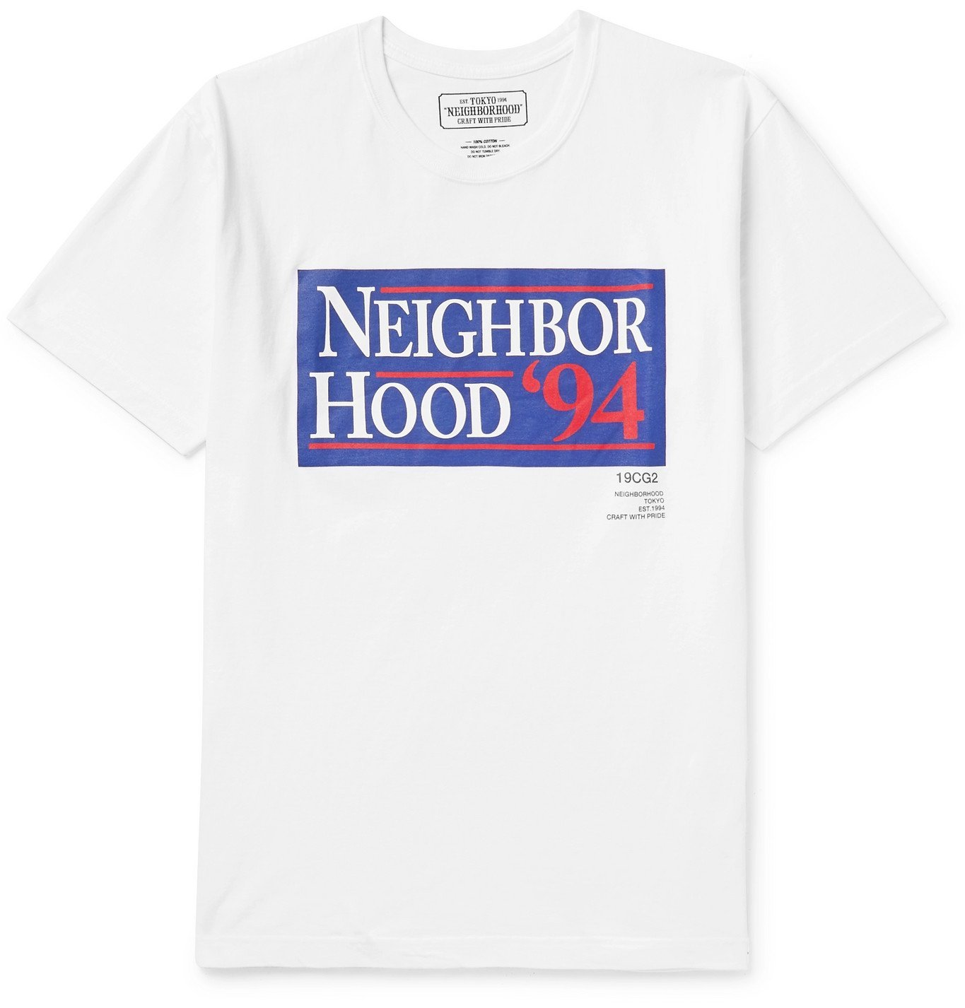 Photo: Neighborhood - Logo-Print Cotton-Jersey T-Shirt - White
