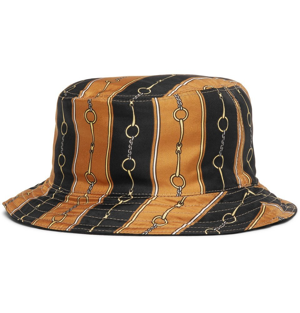 Photo: Gucci - Reversible Velvet and Printed Twill Bucket Hat - Black