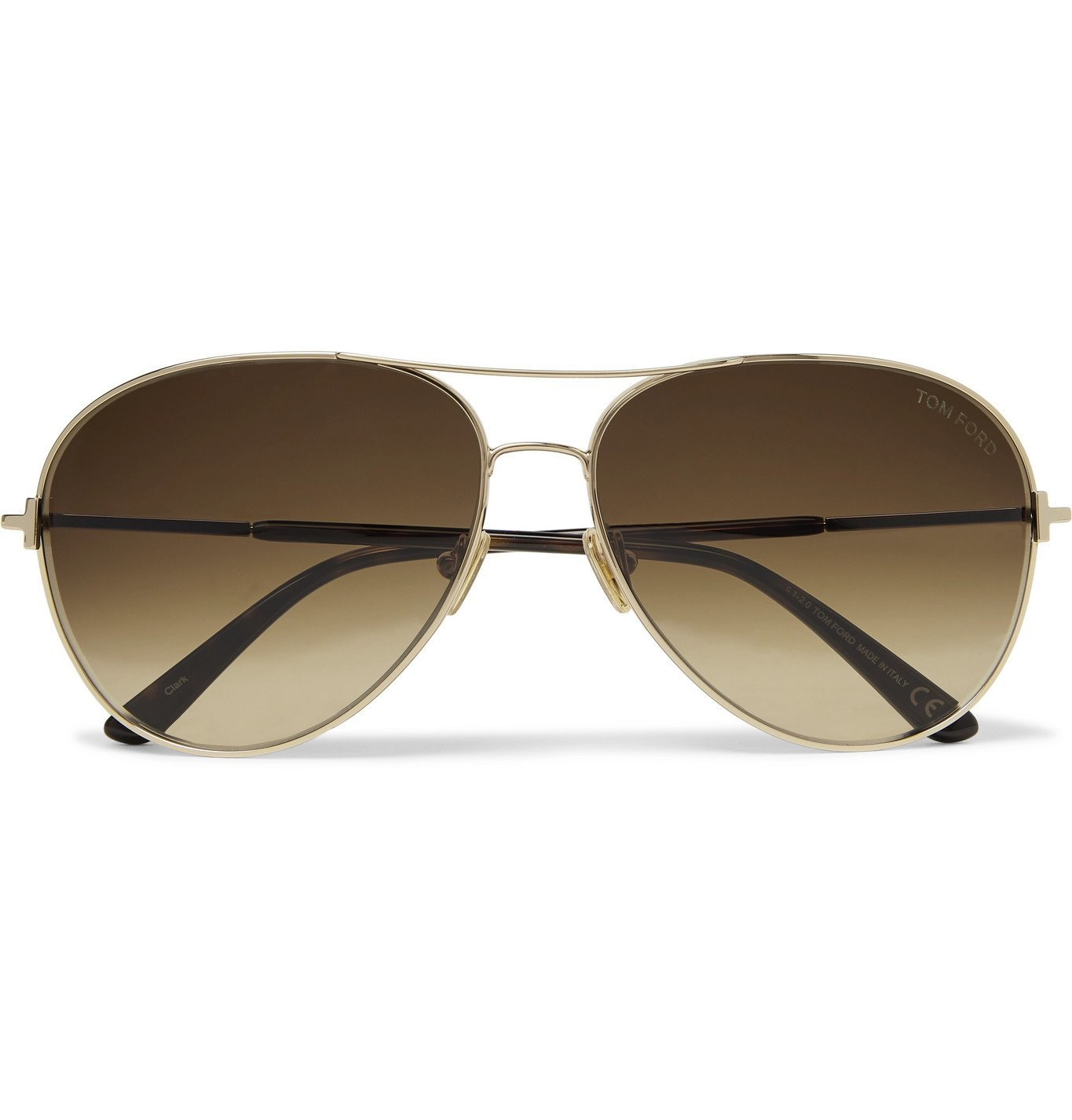 Photo: TOM FORD - Clark Aviator-Style Rose Gold-Tone and Tortoiseshell Acetate Sunglasses - Rose gold