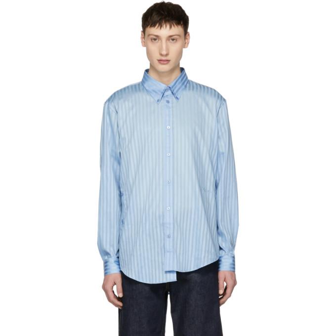Martine Rose Blue Wrap Shirt