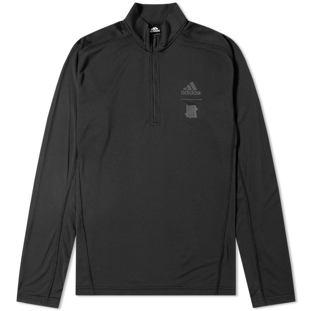 Adidas x Undefeated Long Sleeve Half Zip TR Tee Black