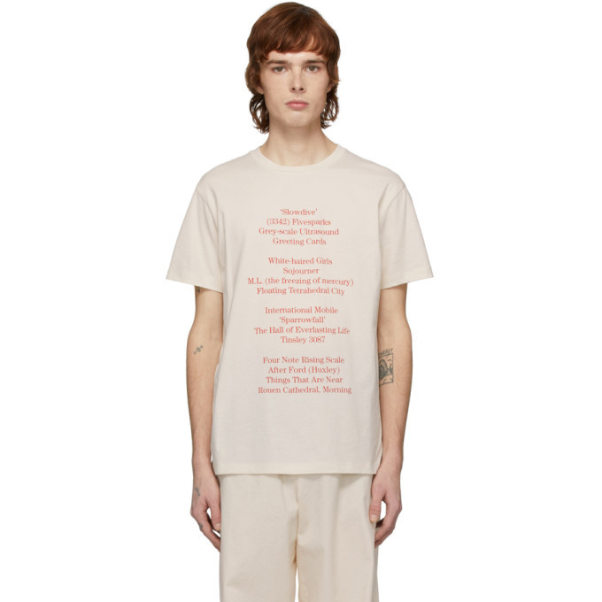 Raf Simons Off-White History Of The World Slim Fit T-Shirt