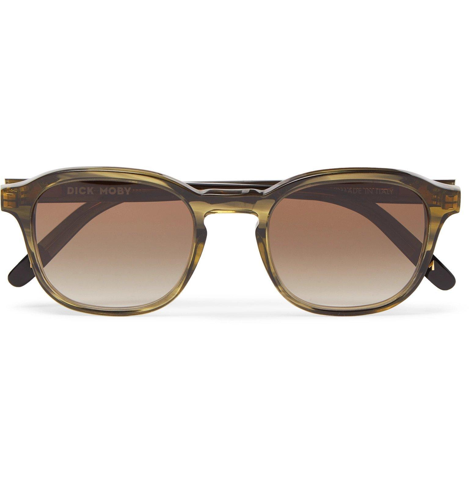 Photo: Dick Moby - Lisbon D-Frame Tortoiseshell Acetate Sunglasses - Green
