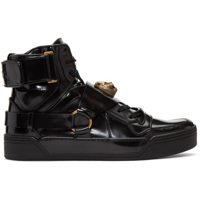 Gucci Black Tiger High-Top Sneakers Gucci