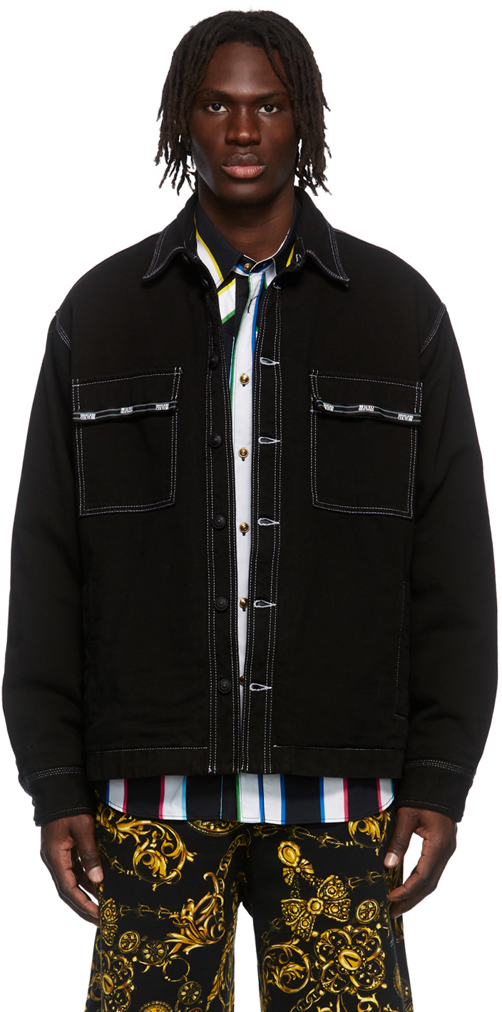 Photo: Versace Jeans Couture Black Fixed Bull Denim Jacket