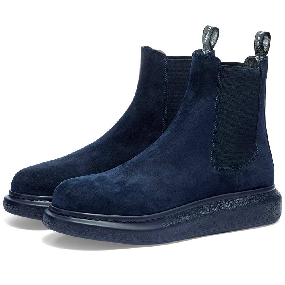 Photo: Alexander McQueen Suede Wedge Sole Chelsea Boot