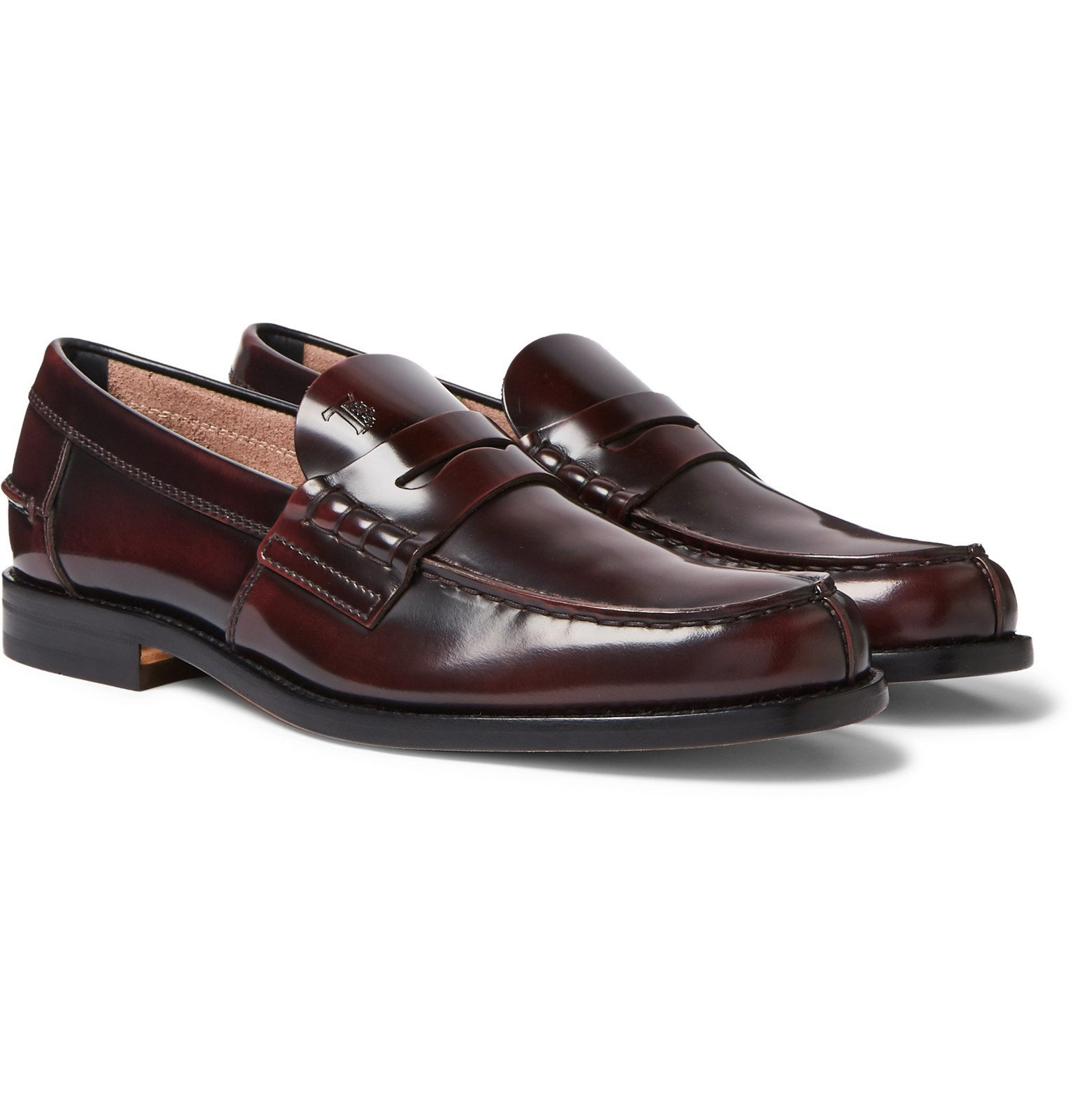 Photo: Tod's - Leather Penny Loafers - Burgundy