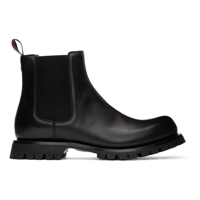 Photo: Gucci Black Epilogue Chelsea Boots