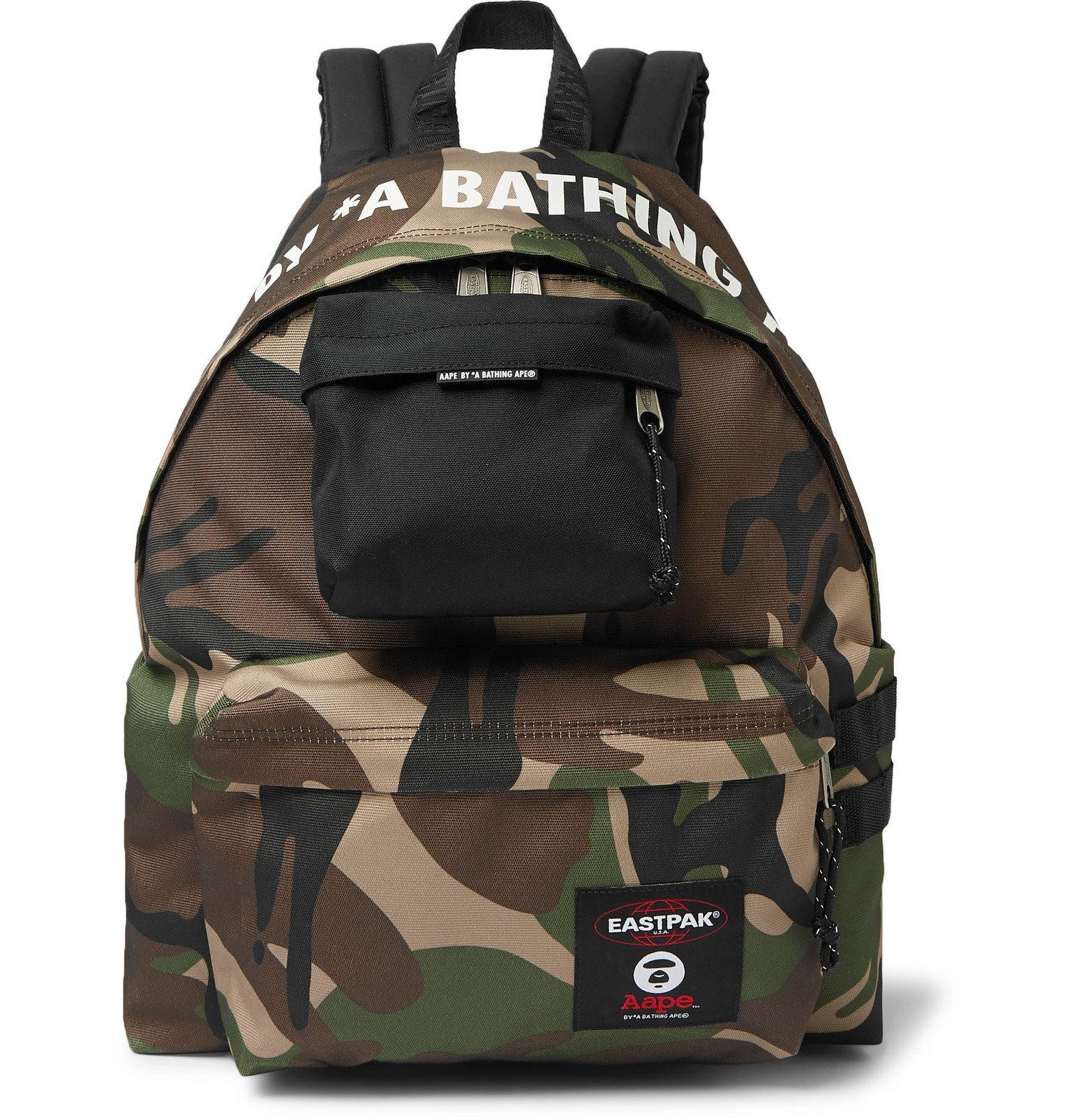 Photo: Eastpak - BAPE Padded Pak'r Camouflage-Print Canvas Backpack - Green