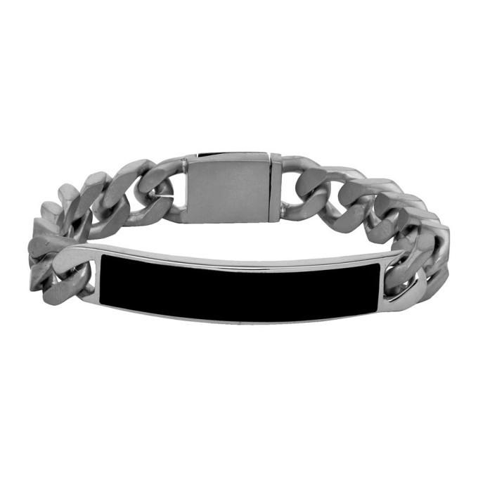 Photo: Maison Margiela Silver and Black ID Bracelet