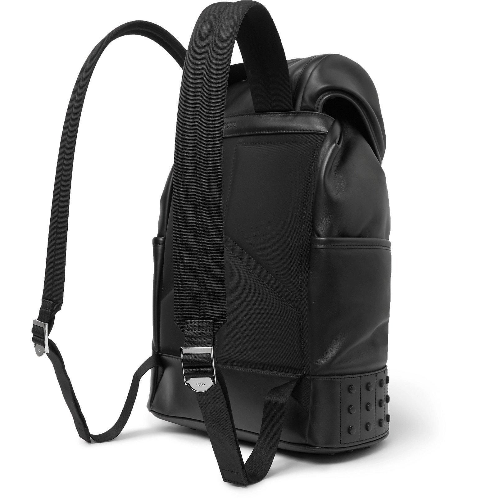 Tod's - Studded Leather Backpack - Black
