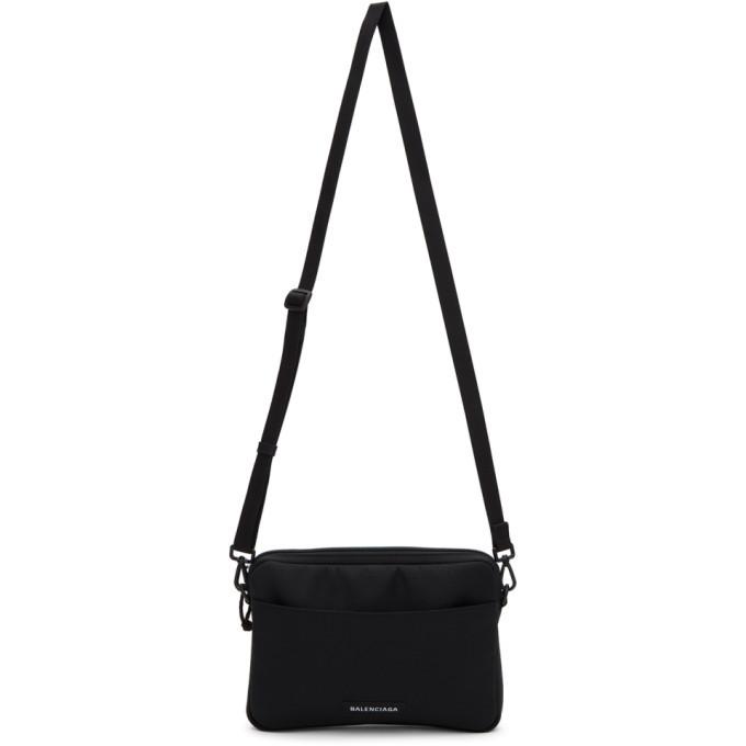 Photo: Balenciaga Black Explorer iPhone Holder Messenger Bag