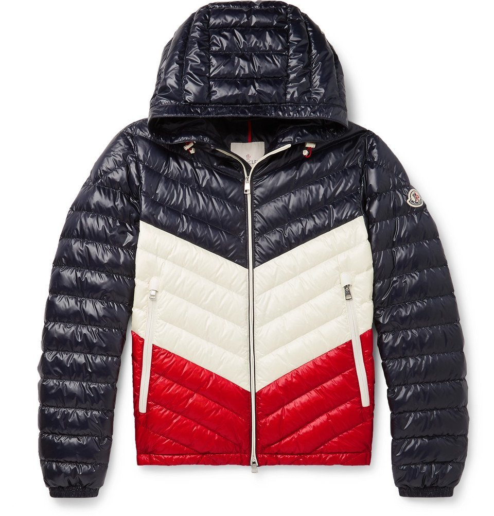 Photo: Moncler - Palliser Slim-Fit Colour-Block Quilted Shell Hooded Down Jacket - Navy