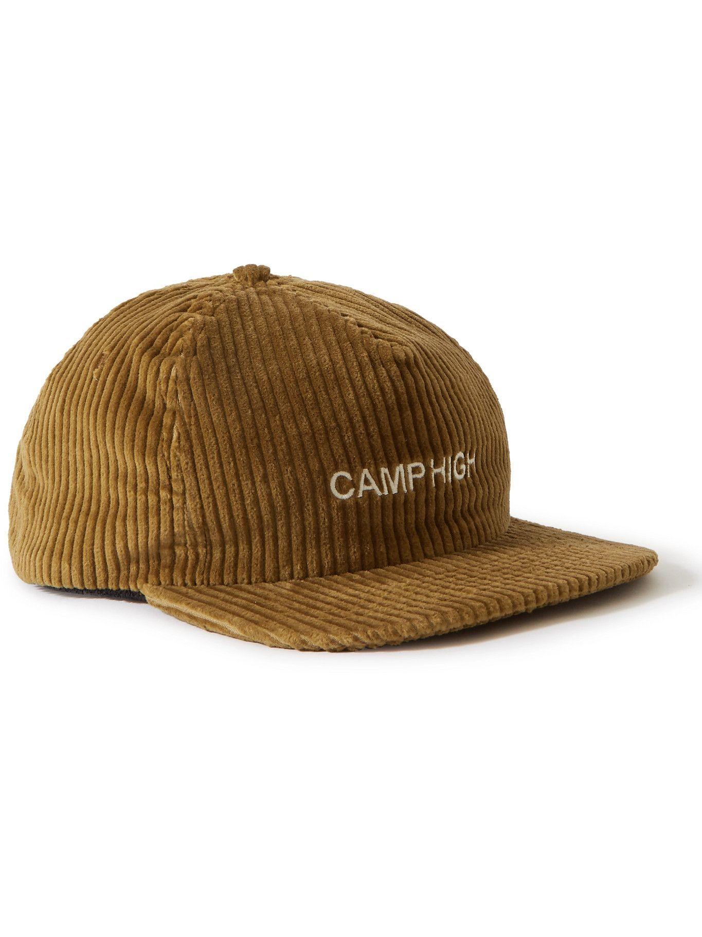 Photo: Camp High - Logo-Embroidered Cotton-Corduroy Baseball Cap