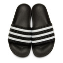 adidas Originals Black and White Adilette Sandals