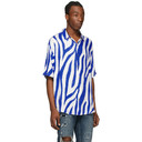 Ksubi Blue and White Animal Short Sleeve Shirt