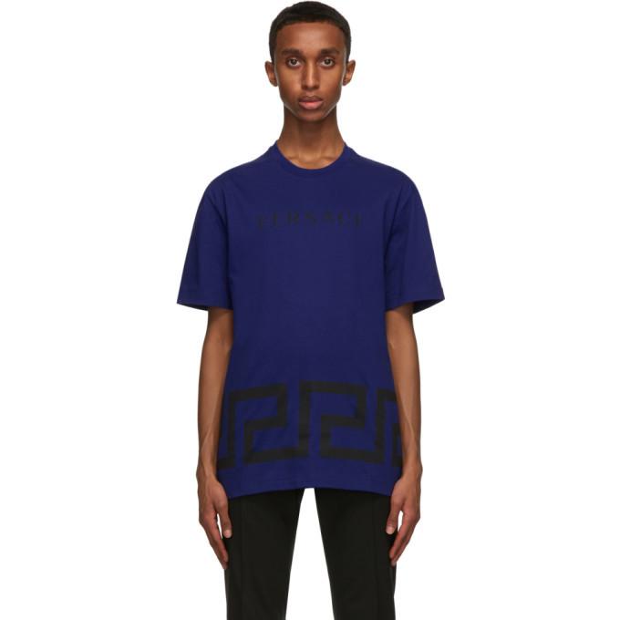 Photo: Versace Blue Greca T-Shirt