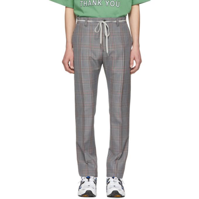 Photo: Lanvin Grey Check Mohair Drawstring Trousers