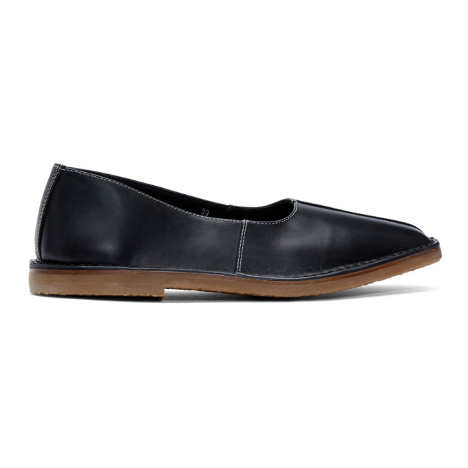 Photo: Lemaire Black Crush Back Loafers