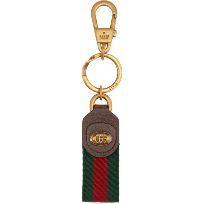 Photo: Gucci Green and Red Ophidia Keychain
