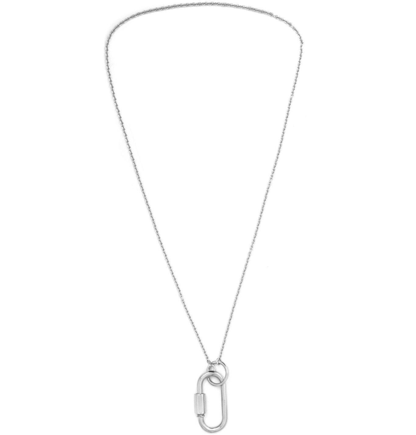 Photo: A.P.C. - Carabiner Silver-Tone Necklace - Silver