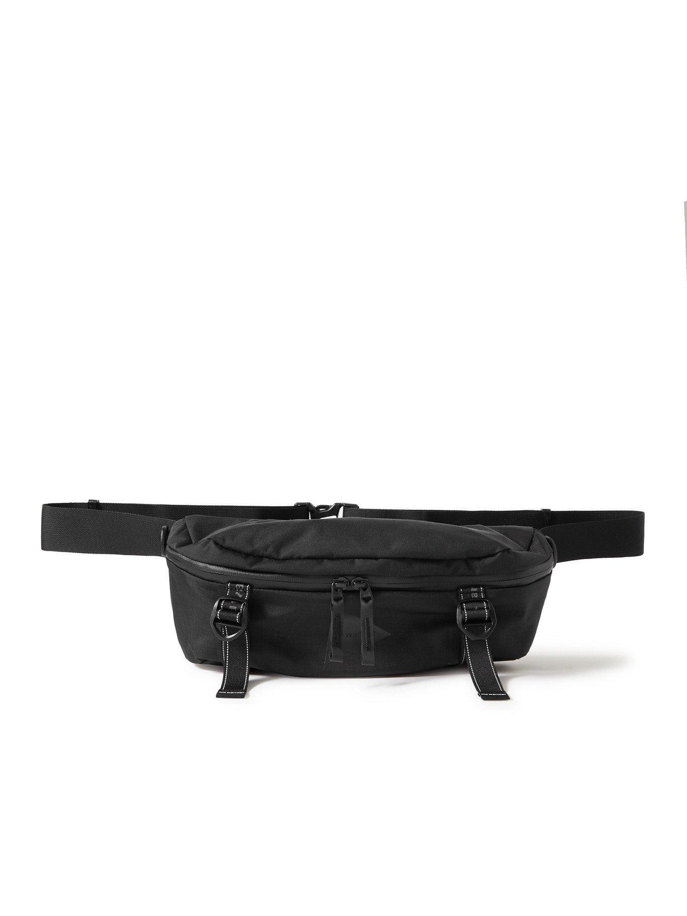 Photo: AND WANDER - Heather Logo-Print Shell Belt Bag