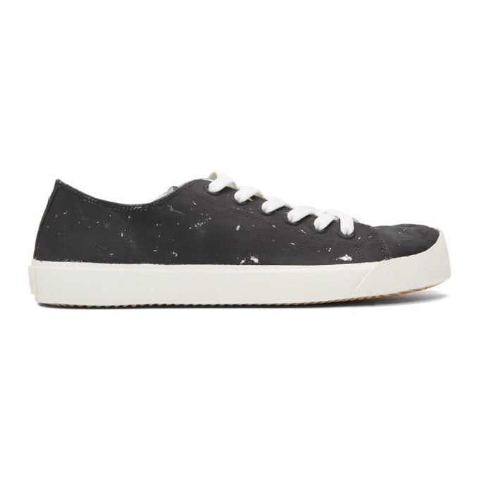 Photo: Maison Margiela Black and Silver Defile Vandal Tabi Sneakers