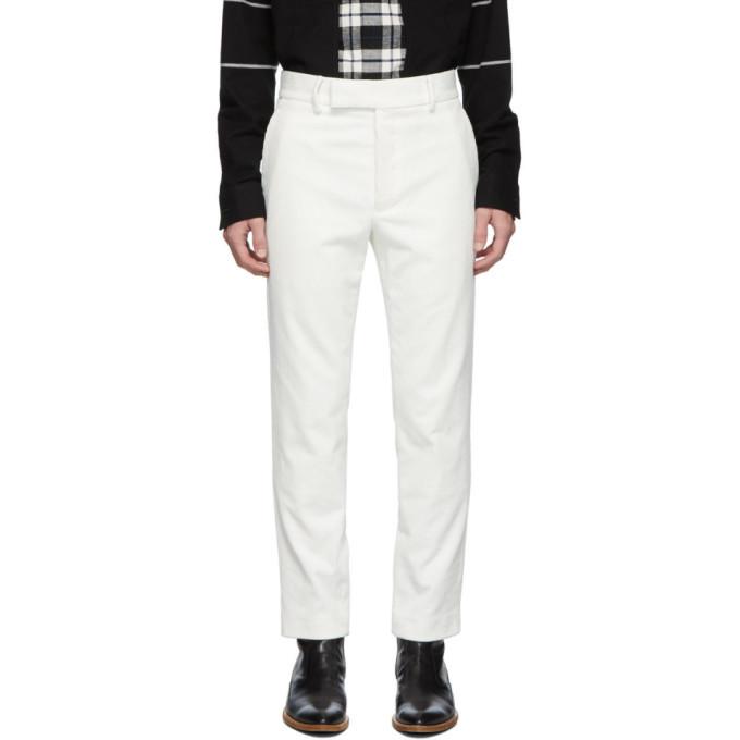 Photo: Haider Ackermann White Corduroy Classic Trousers