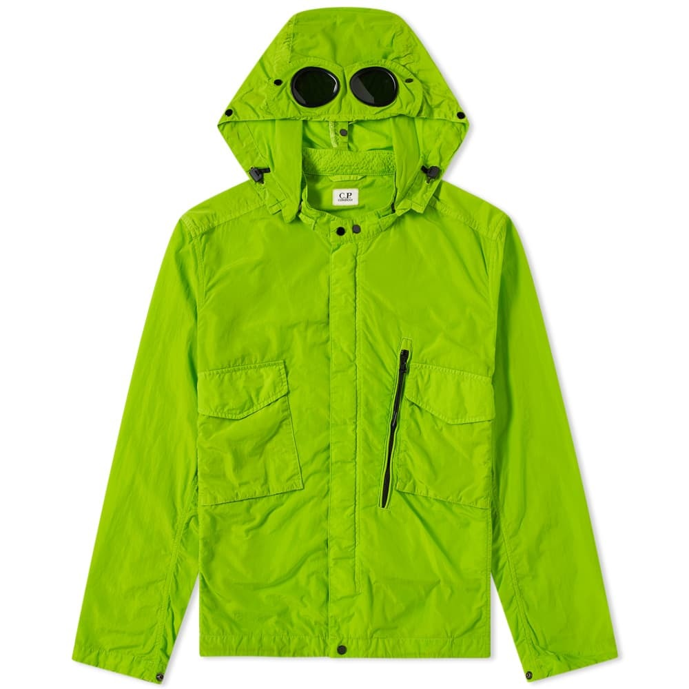 C.P. Company Chrome Goggle Hooded Shirt Jacket Yellow