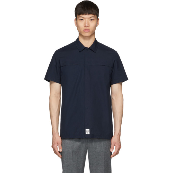 Photo: A.P.C. Blue Midway Short Sleeve Shirt