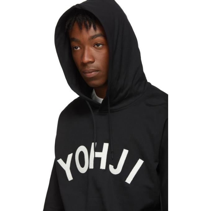Y-3 Black Yohji Letters Hoodie