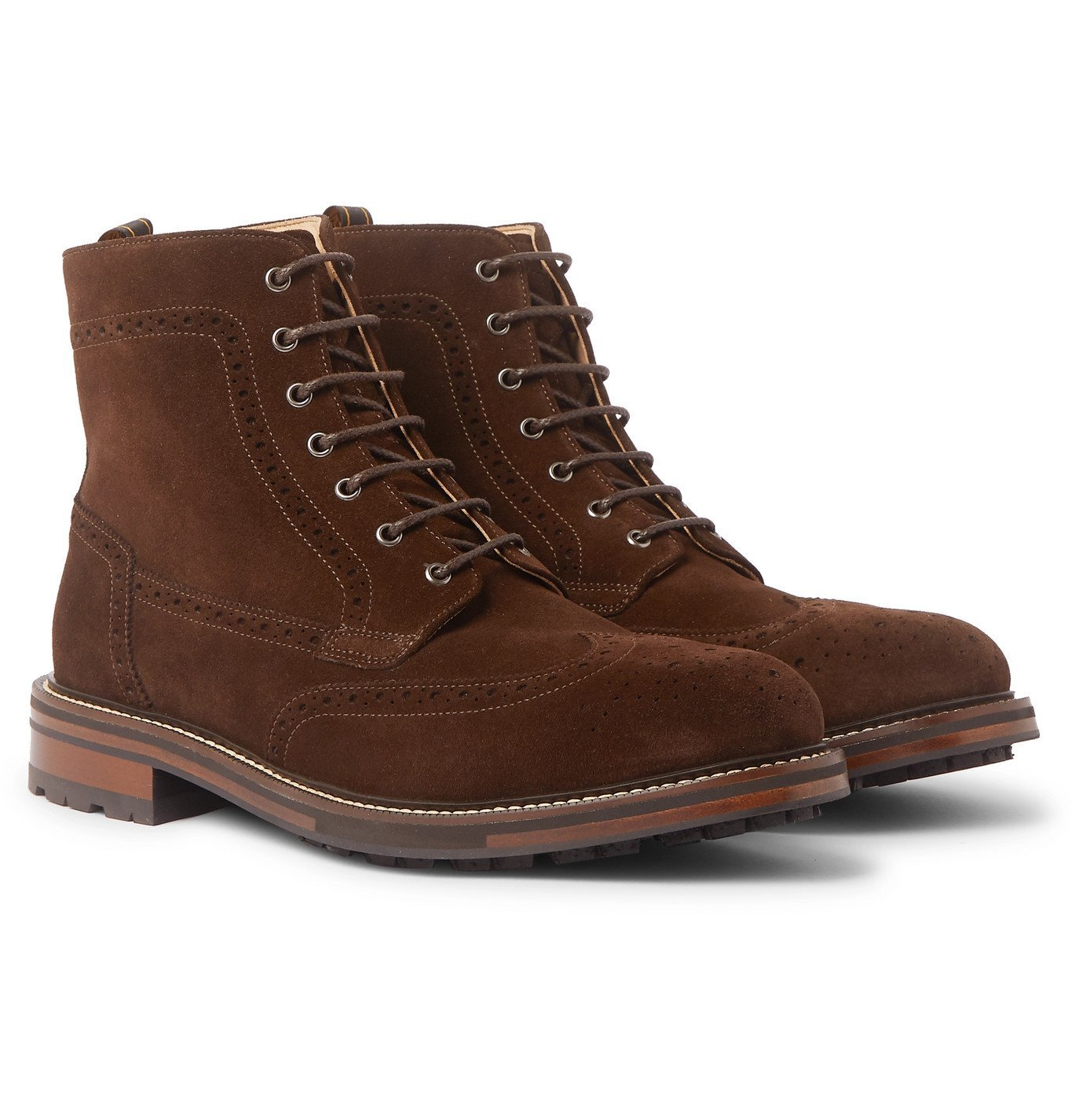 Photo: Dunhill - Country Suede Brogue Boots - Brown