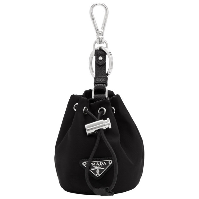 Photo: Prada Black Travel Drawstring Pouch Keychain