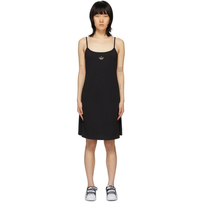 adidas Originals Black Crystal Logo Dress