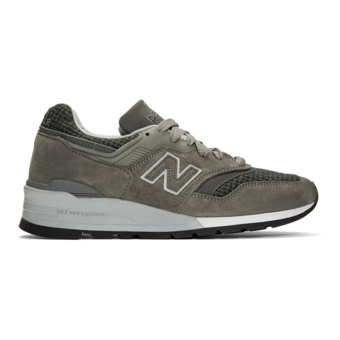 Photo: New Balance Grey US Made 990 Sneakers