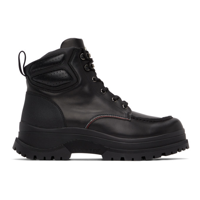 Photo: Moncler Black Leather Ulderic Boots