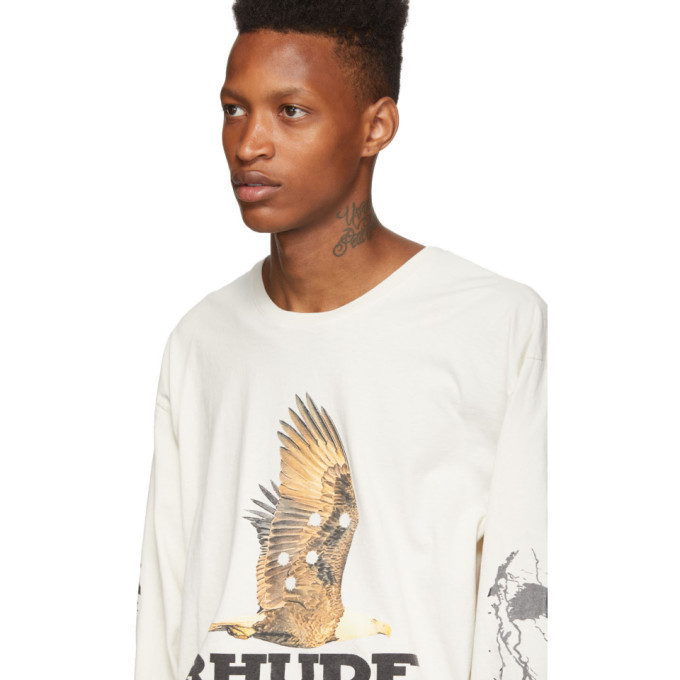 Rhude Off-White Almost Home Long Sleeve T-Shirt